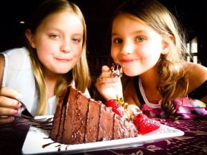 The Chocolate Cake!!! (I think they like it?!)
